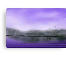 The Purple Colored Sky Canvas Print
