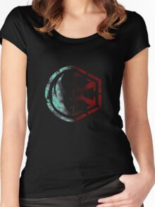Jedi/Sith Emblem Women's Fitted Scoop T-Shirt