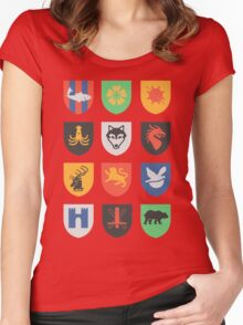 sigils of the seven kingdoms Women's Fitted Scoop T-Shirt