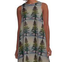 Evergreen A-Line Dress