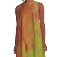 Abstract Fading Flower© (S15) A-Line Dress