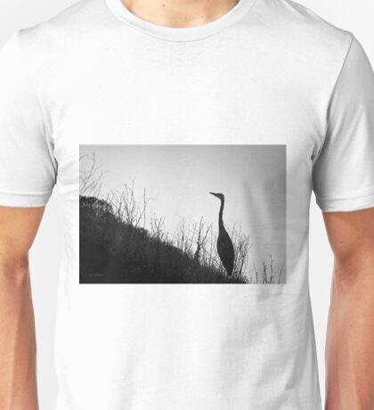 Great Blue Heron I BW Unisex T-Shirt