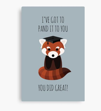 A Red Panda Graduation Canvas Print