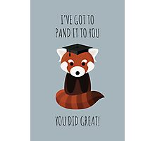 A Red Panda Graduation Photographic Print