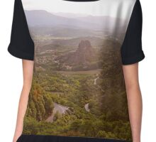 Meteora Panoramic #2 Chiffon Top