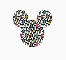 Mouse Rainbow Raindrop Patterned Silhouette Unisex T-Shirt