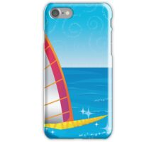 Tropical Lagoon Illustustration iPhone Case/Skin