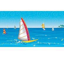 Tropical Lagoon Illustustration Photographic Print