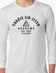 Gracie Jiu Jitsu martial arts black Long Sleeve T-Shirt