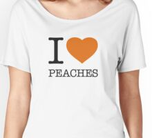 I ♥ PEACHES Women's Relaxed Fit T-Shirt