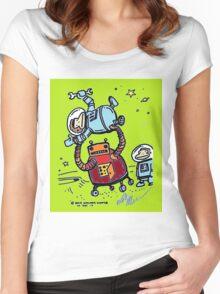 Robot Ape Goes Berserk Women's Fitted Scoop T-Shirt