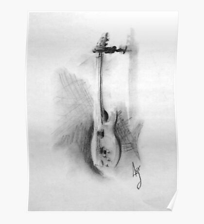 Charcoal bass Poster