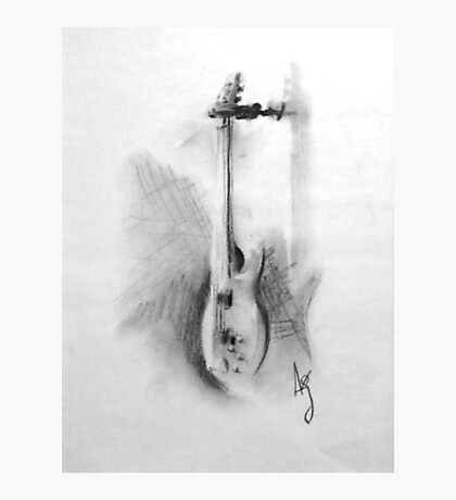 Charcoal bass Photographic Print