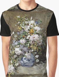 Renoir Auguste - Spring Bouquet Graphic T-Shirt