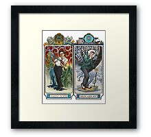 K-Science, Mucha Style! Framed Print