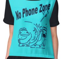 No Phone Zone Apes Chiffon Top