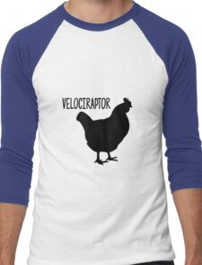 Velociraptor/Chicken Men's Baseball ¾ T-Shirt