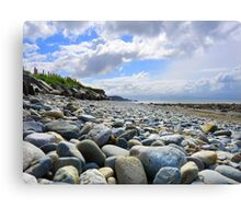 Pebble filled Beach in Wales Great Britain Canvas Print