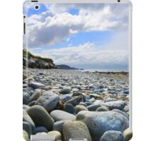 Pebble filled Beach in Wales Great Britain iPad Case/Skin