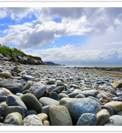 Pebble filled Beach in Wales Great Britain Sticker