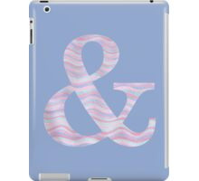Initial & Ampersand Rose Quartz And Serenity Pink Blue Wavy Lines iPad Case/Skin
