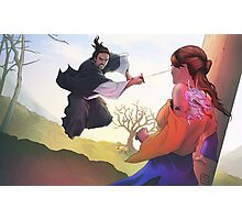 Sword Saint vs Demon Photographic Print