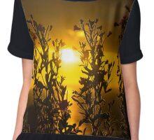 wild atlantic way sunset through wild flowers Chiffon Top