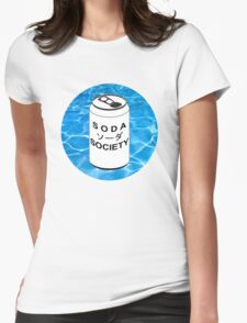 SODA  ソーダ SOCIETY LOGO Womens Fitted T-Shirt