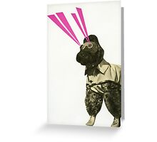 Space Dog Greeting Card