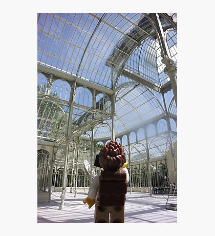 The Lego Backpacker in Madrid Photographic Print