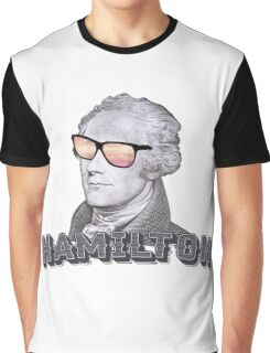 Cool Alexander Hamilton with Sunglasses Graphic T-Shirt