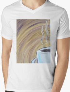 Abstract Coffee Mug Mens V-Neck T-Shirt
