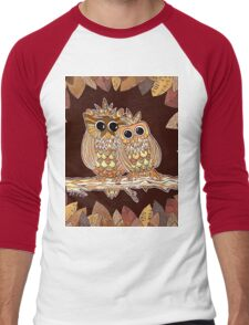 Owlways Love You Men's Baseball ¾ T-Shirt