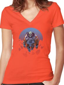 R3-S34RCH3R Women's Fitted V-Neck T-Shirt