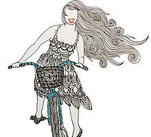 Zentangle Patterned Bike Ride by AmandaRuthArt