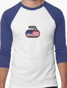 America Rocks! - Curling Rockers Men's Baseball ¾ T-Shirt