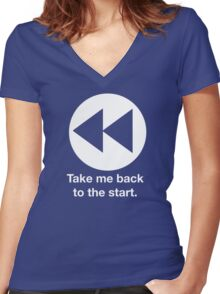 Take Me Back to the Start Women's Fitted V-Neck T-Shirt