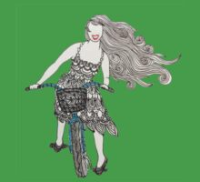 Zentangle Patterned Bike Ride Kids Clothes