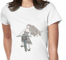 Zentangle Patterned Bike Ride Womens Fitted T-Shirt