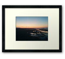 Sunset Beach #1 Photograph Framed Print