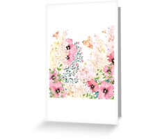 Lush lazy summer afternoon floral watercolor garden Greeting Card
