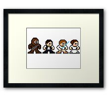 8-bit Chewie, Han, Luke & Leia Framed Print