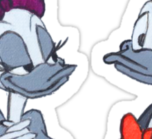 Accented Donald and Daisy  Sticker