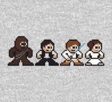 8-bit Chewie, Han, Luke & Leia Kids Clothes