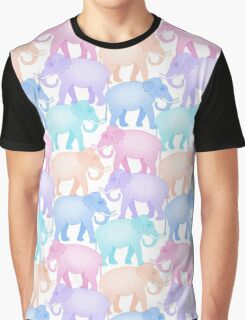 Multicolored Indian Elephant Pattern Graphic T-Shirt