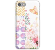 Lush Summer afternoon floral medley garden art iPhone Case/Skin