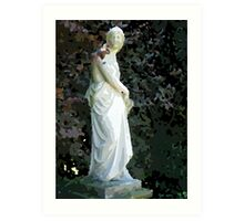 Statue for painting by numbers Art Print