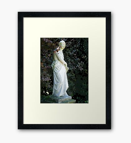 Statue for painting by numbers Framed Print