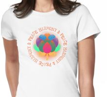 Harmony Peace Lotus Flower Womens Fitted T-Shirt