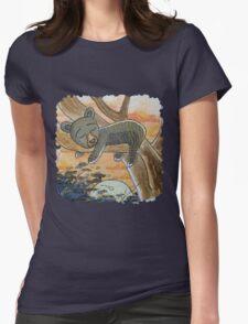 Black Bear Cub Womens Fitted T-Shirt